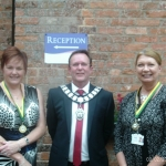 Mayor and Staff at Edgeley House