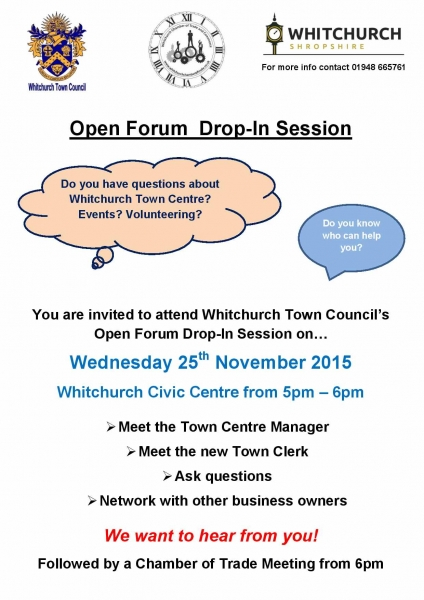 Business Open Forum Session poster