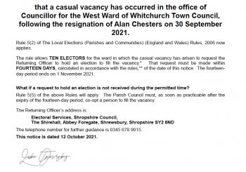 Vacancy for a Councillor