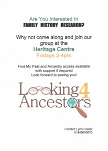 Family History Group @ Whitchurch Heritage Centre | Whitchurch | United Kingdom